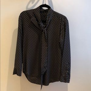 Kate Moss x Equipment Silk Star Print Tie Blouse
